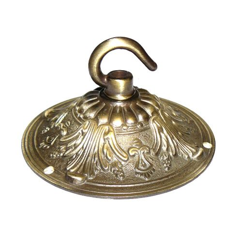 99mm Solid Brass Brushed Antique Finish Hooked Ceiling Rose Plate for Chandeliers